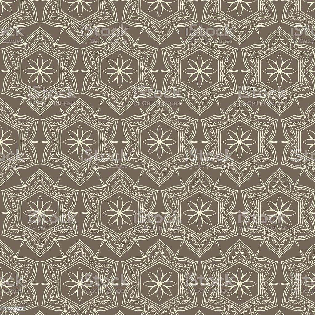 Tribal art ethnic seamless pattern. Boho print. Ethno ornament vector art illustration
