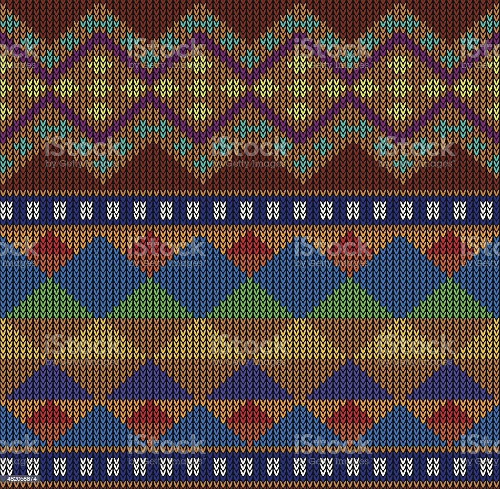Tribal Aztec Abstract Seamless Pattern. Geometric Vector. vector art illustration