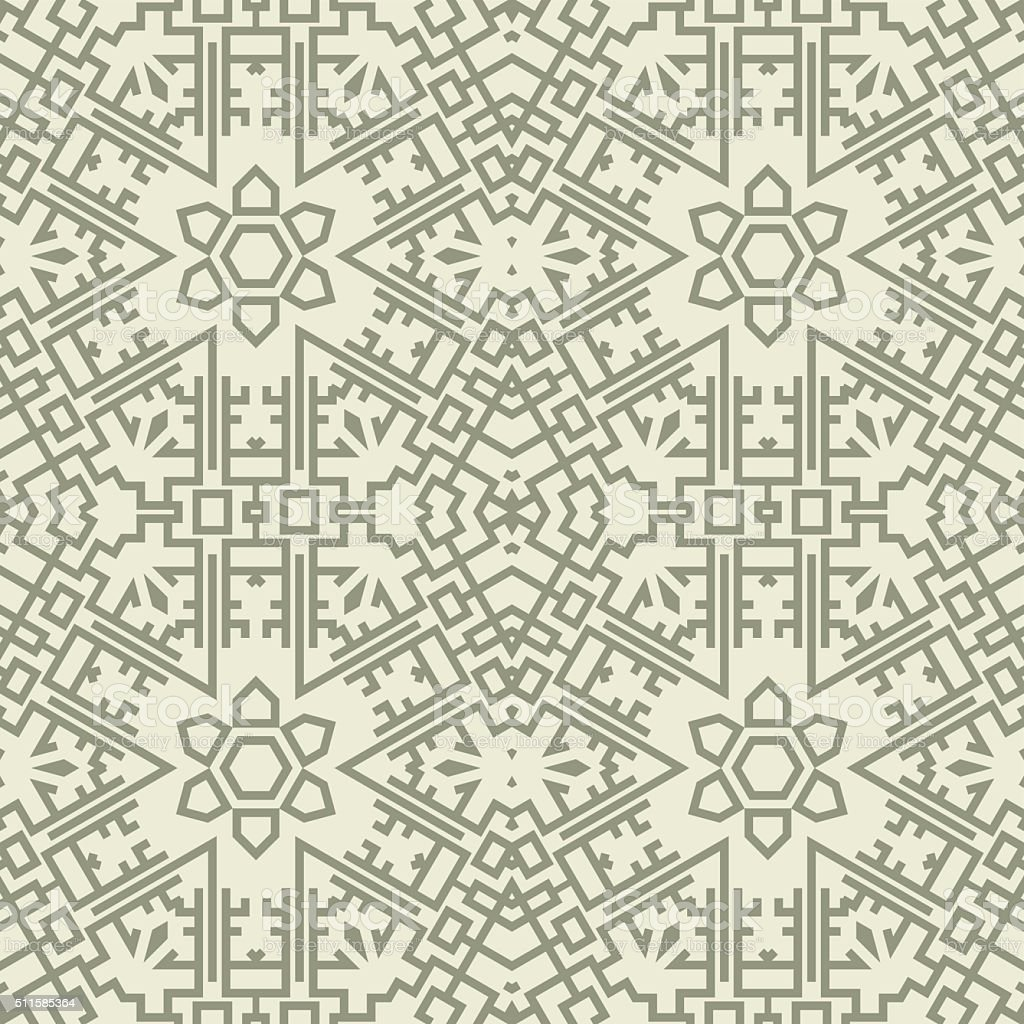 Tribal Aztec Abstract Seamless Pattern vector art illustration