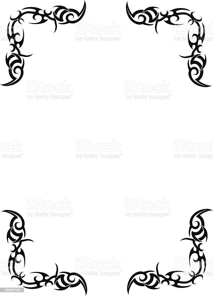 Tribal Border Design royalty-free stock vector art