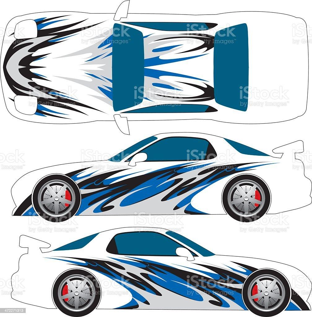 Tribal Car Graphic royalty-free stock vector art