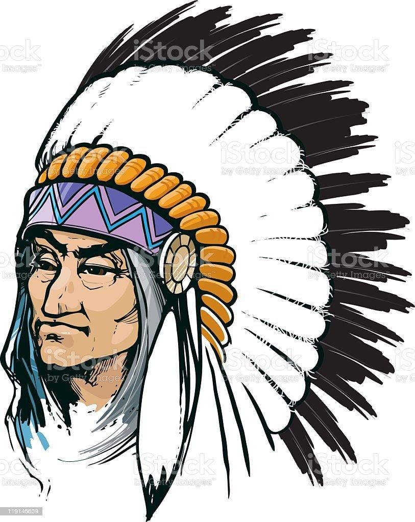 Tribal Chief royalty-free stock vector art