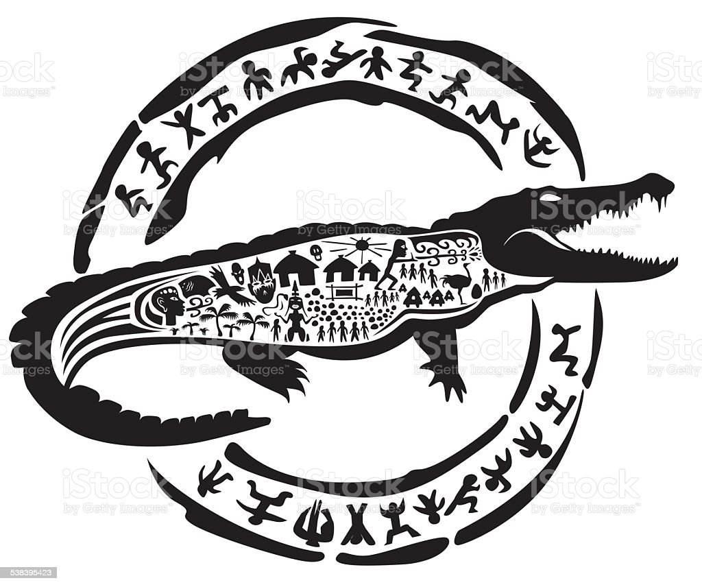 crocodile tribal symbol