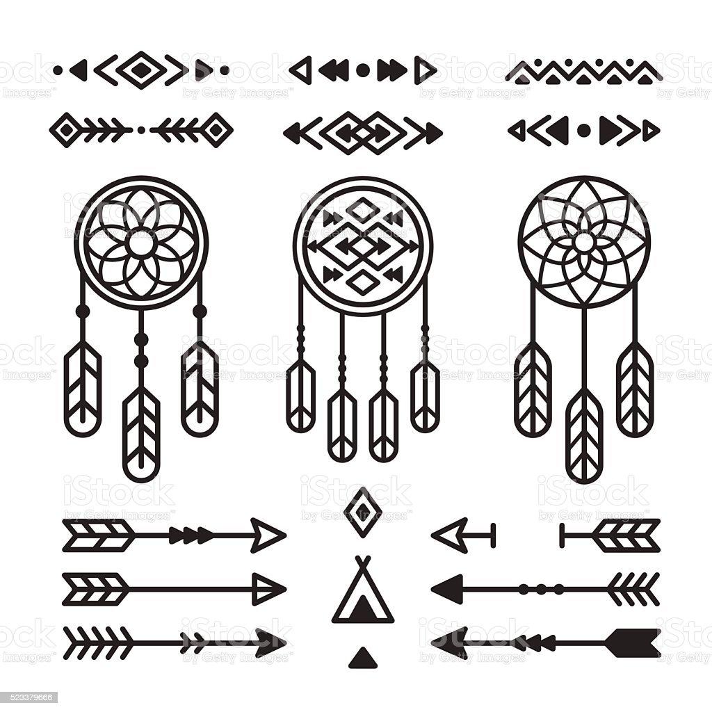 Tribal design elements vector art illustration