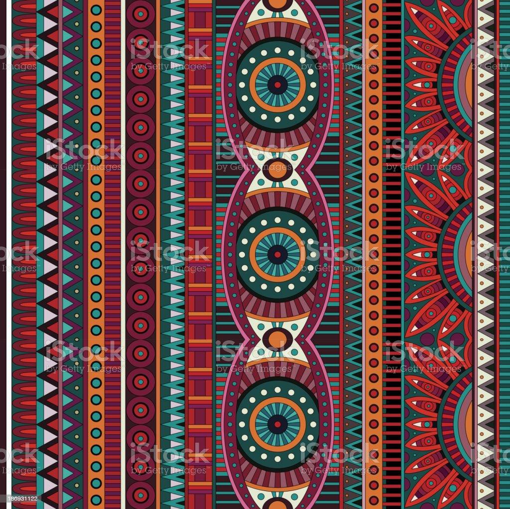 Tribal ethnic seamless pattern vector art illustration