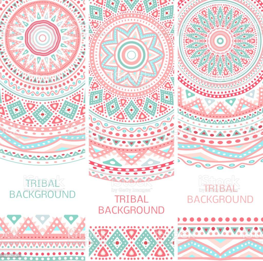 Tribal ethnic vintage banners vector art illustration