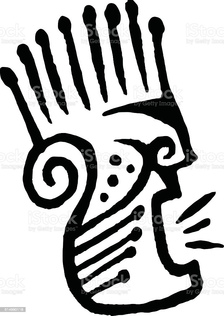 Tribal Face vector art illustration