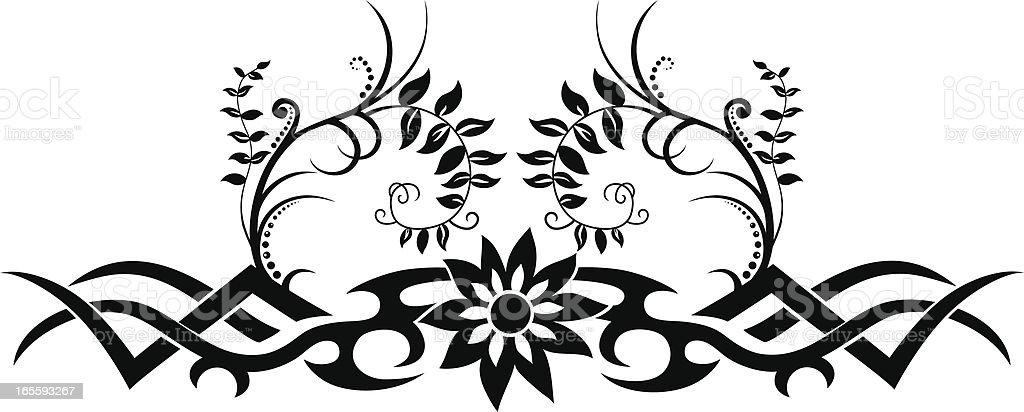 Tribal Floral Design royalty-free stock vector art