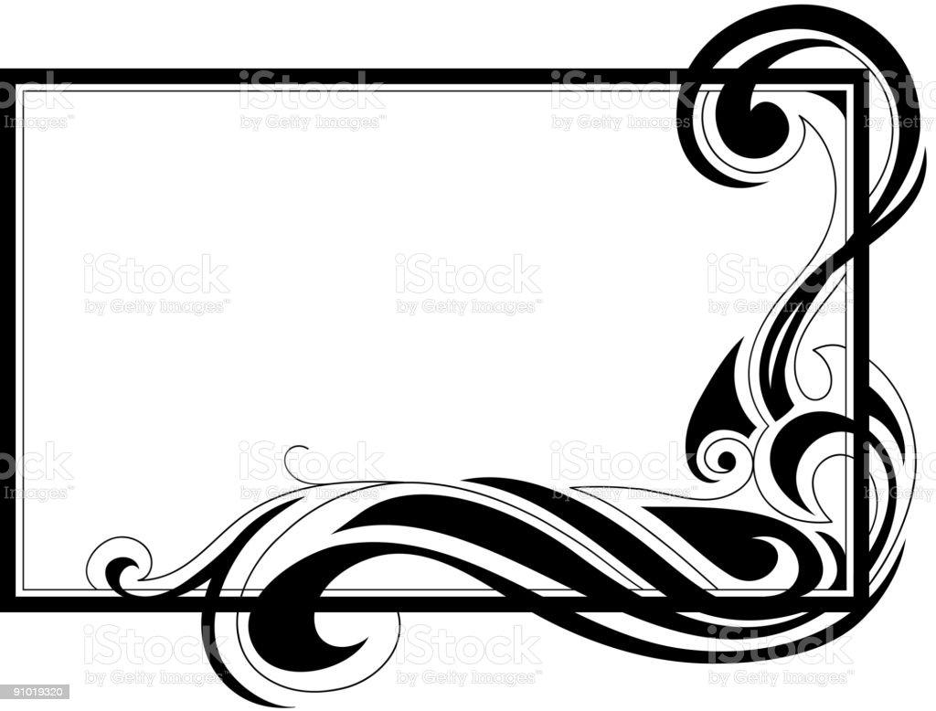 Tribal frame royalty-free stock vector art