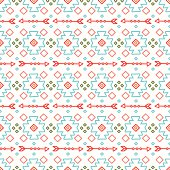 Tribal hand drawn line  ethnic seamless pattern. Border. Doodles background.