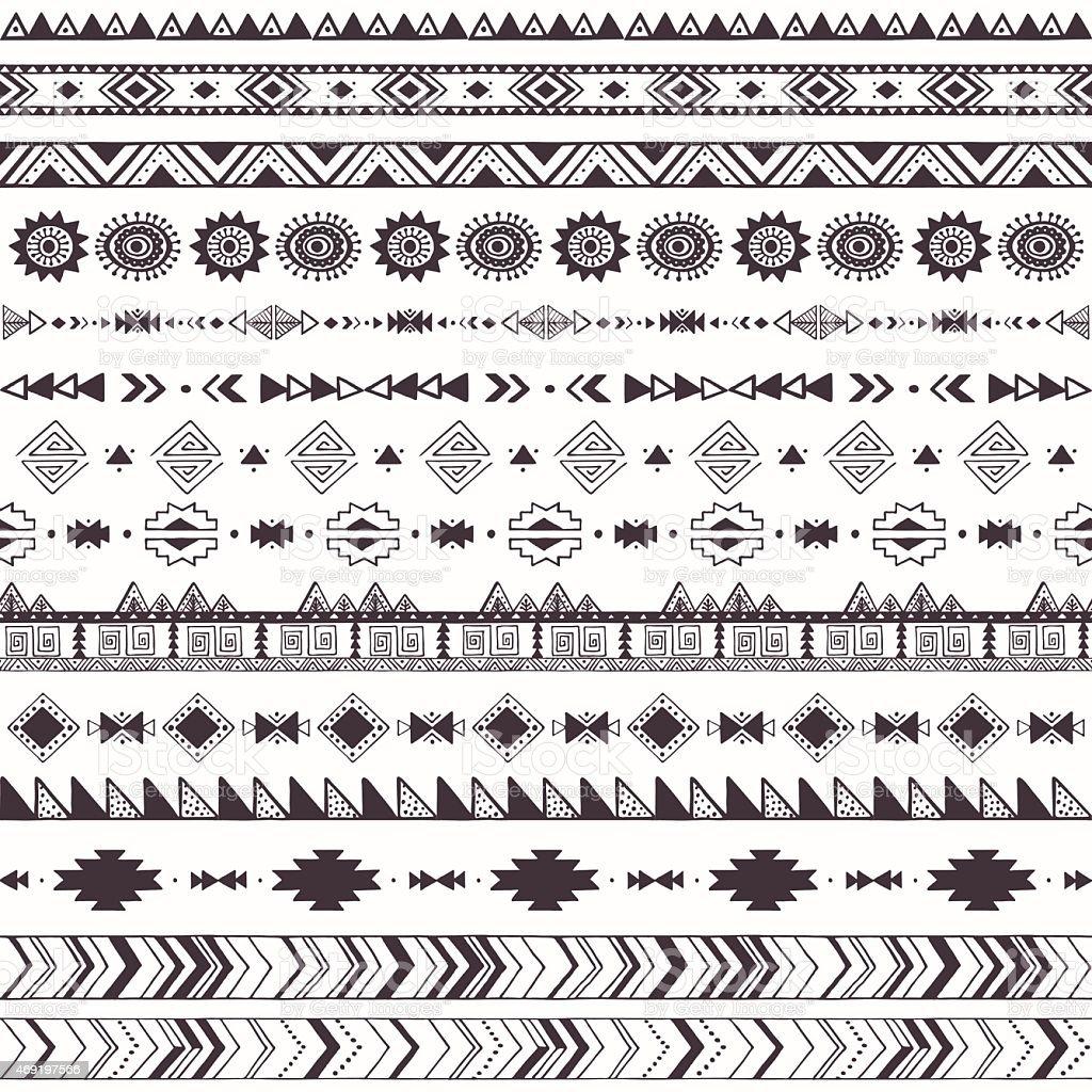 Tribal motifs pattern vector art illustration
