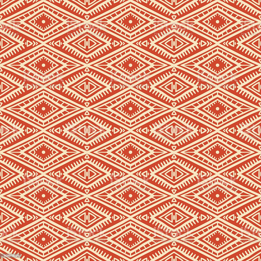 tribal orange and yellow pattern vector art illustration