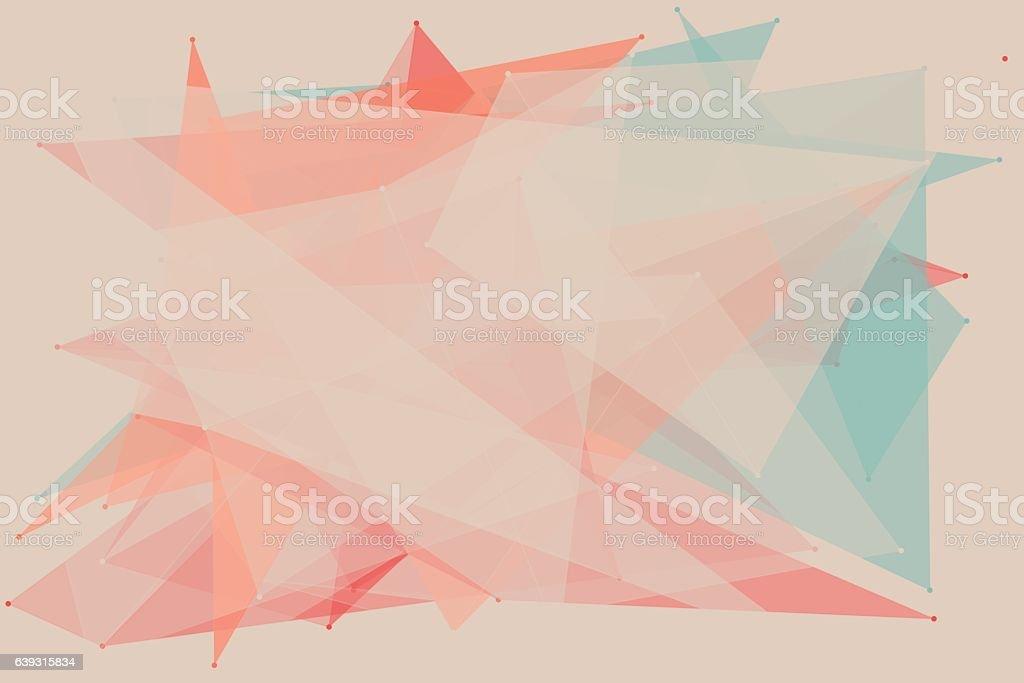 Tribal Polygon Pattern Horizontal vector art illustration