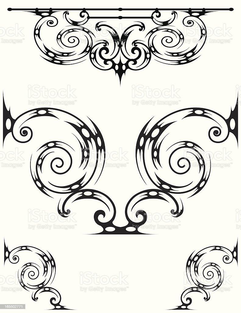 Tribal Scroll vector art illustration