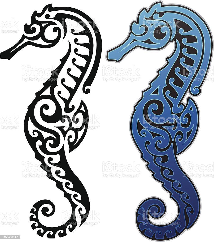 Tribal Seahorse royalty-free stock vector art