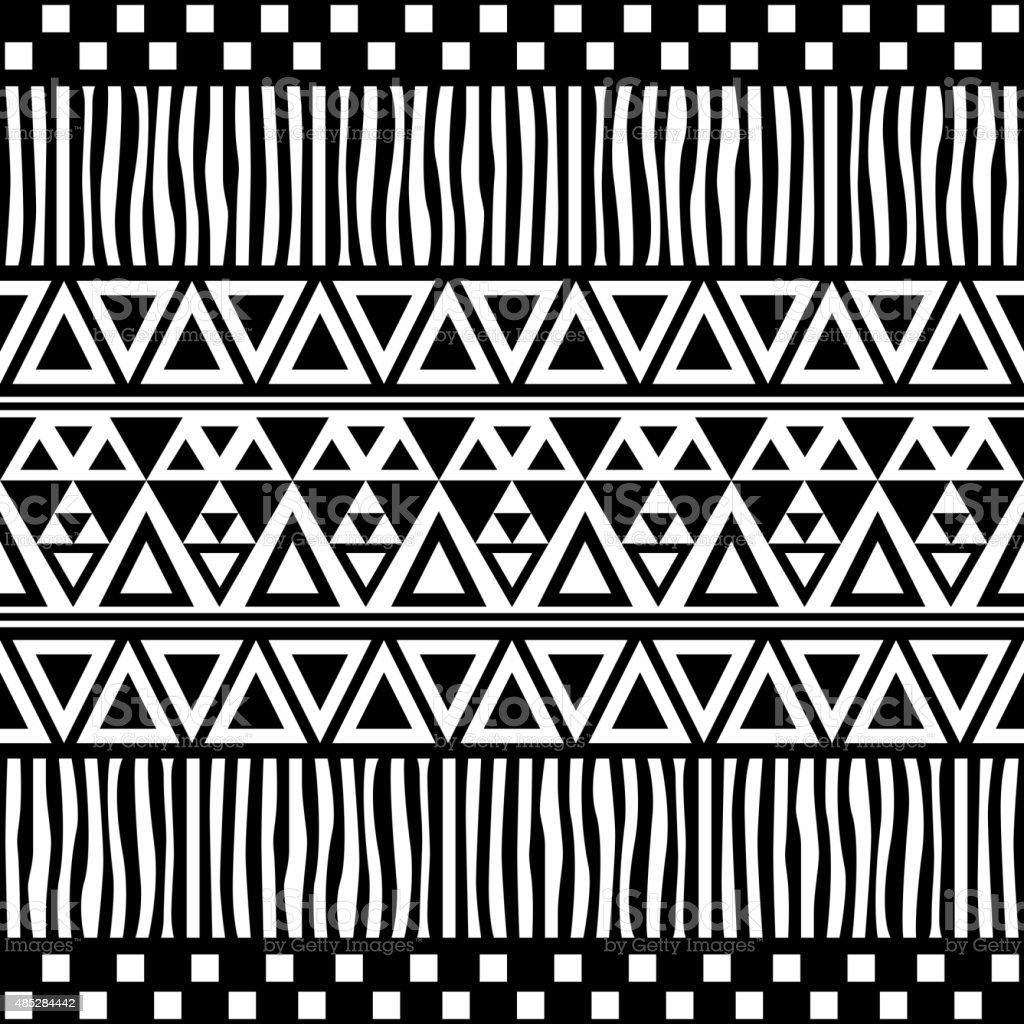 Tribal Seamless Pattern. Ethnic Vector Background vector art illustration