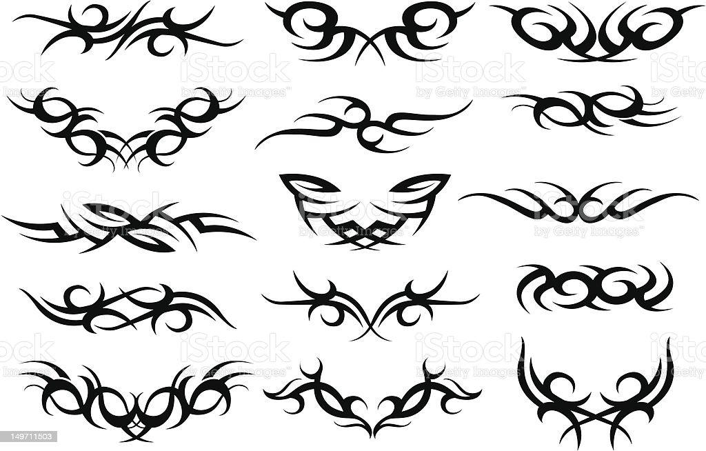 design elemento a spirale tribale illustrazione royalty-free