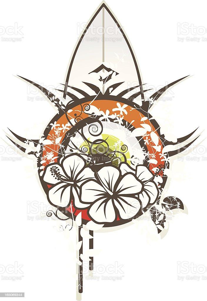 tribal surf emblem royalty-free stock vector art