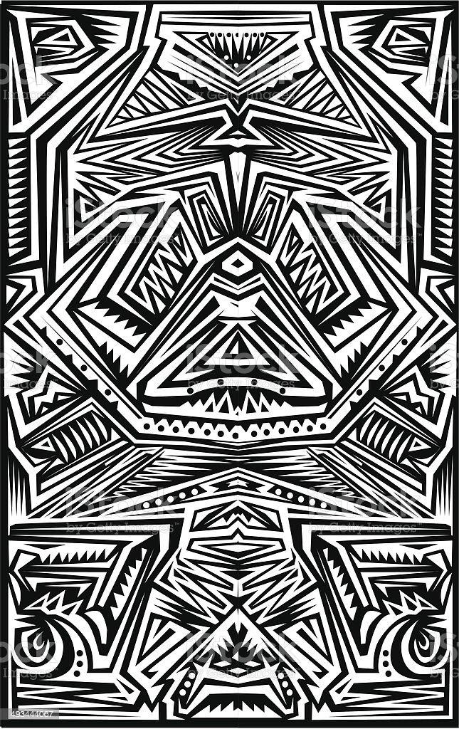 Tribal Tatoo stock vecteur libres de droits libre de droits