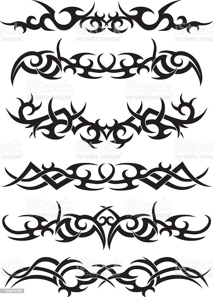 Tribal Tatto Designs royalty-free stock vector art