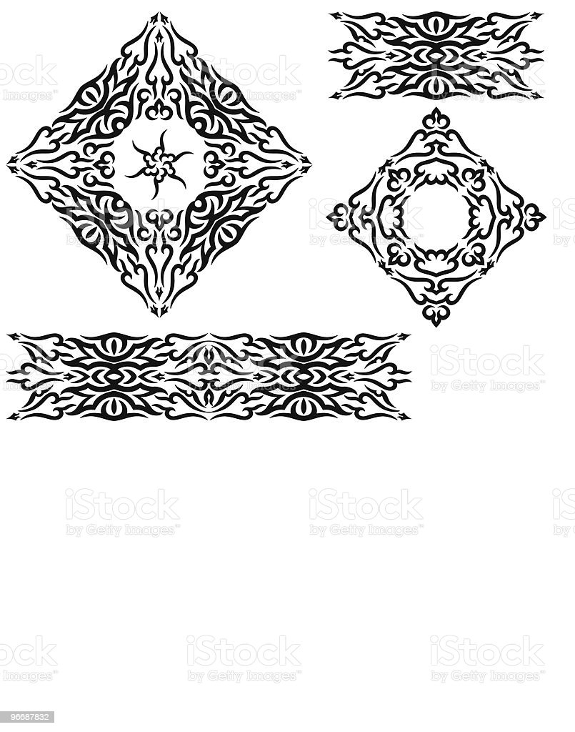 Tribal Tattoo Arm Band, frame vector art illustration