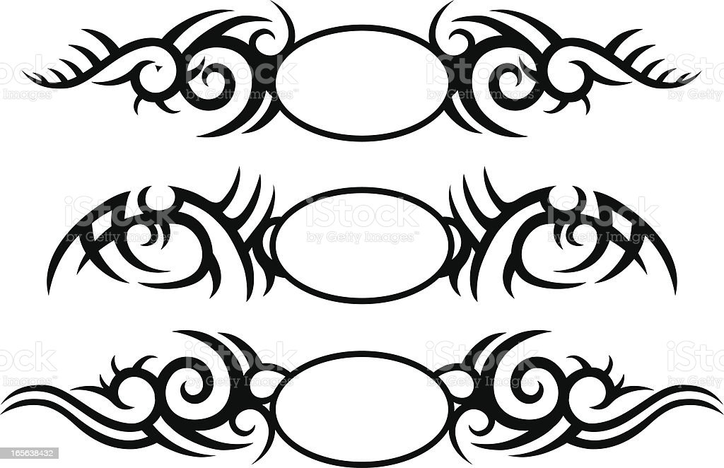 Tribal Tattoo Crests royalty-free stock vector art