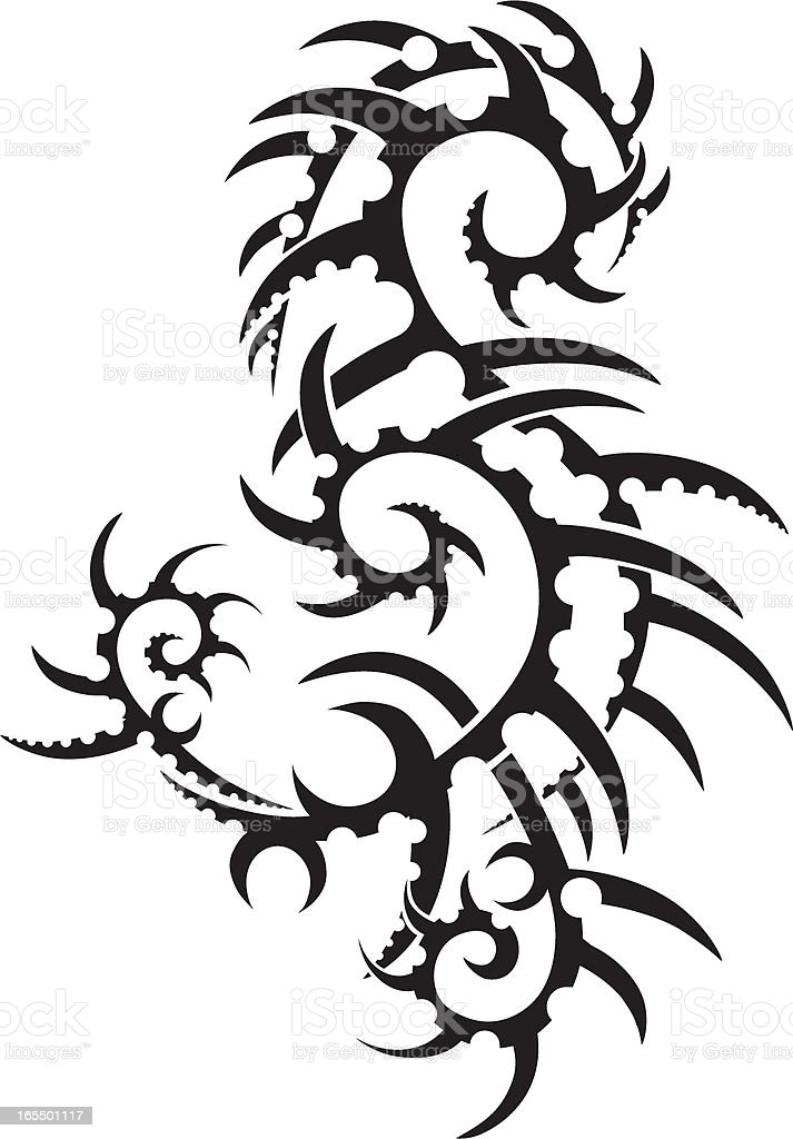 Tribal Tattoo Design royalty-free stock vector art