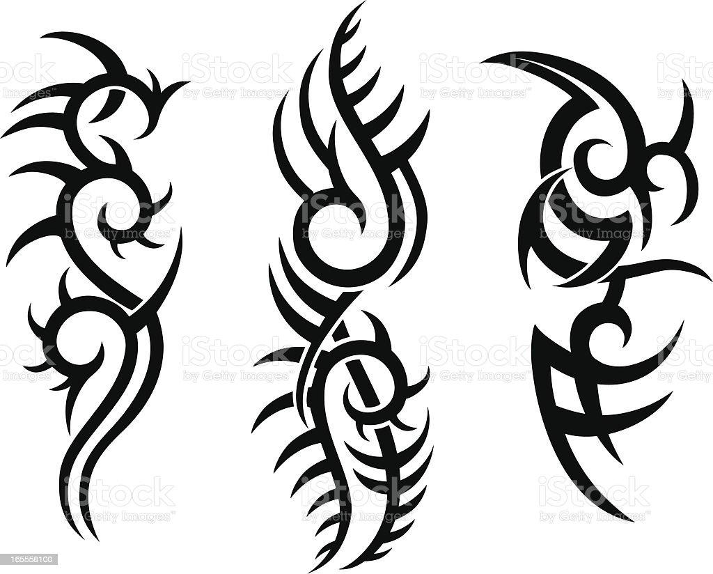 Tribal Tattoo Design royalty-free stock vector art