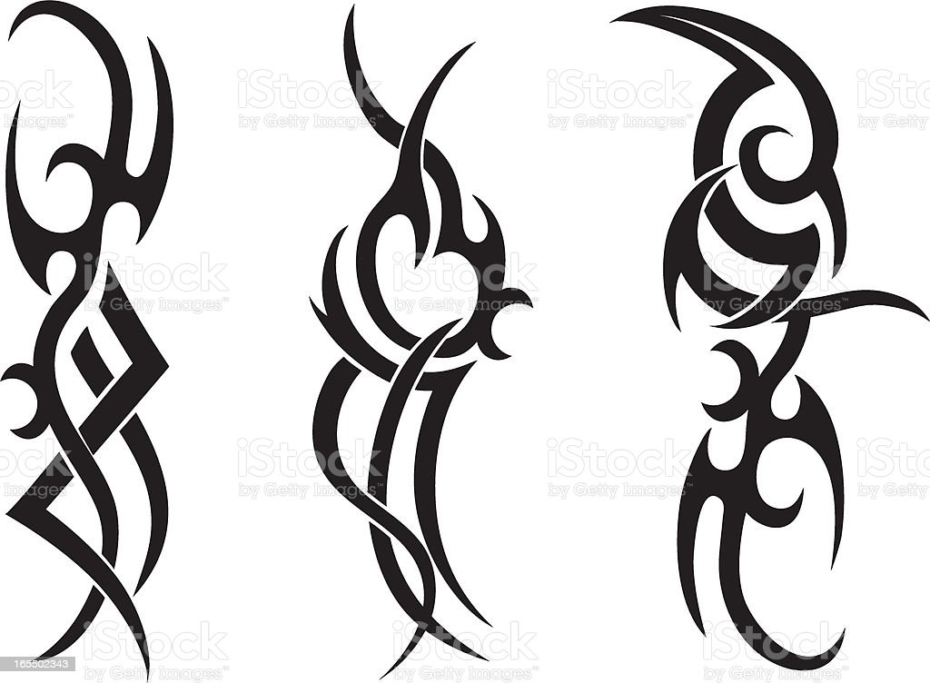 tribal tattoo designs stock vector art 165502343 istock. Black Bedroom Furniture Sets. Home Design Ideas