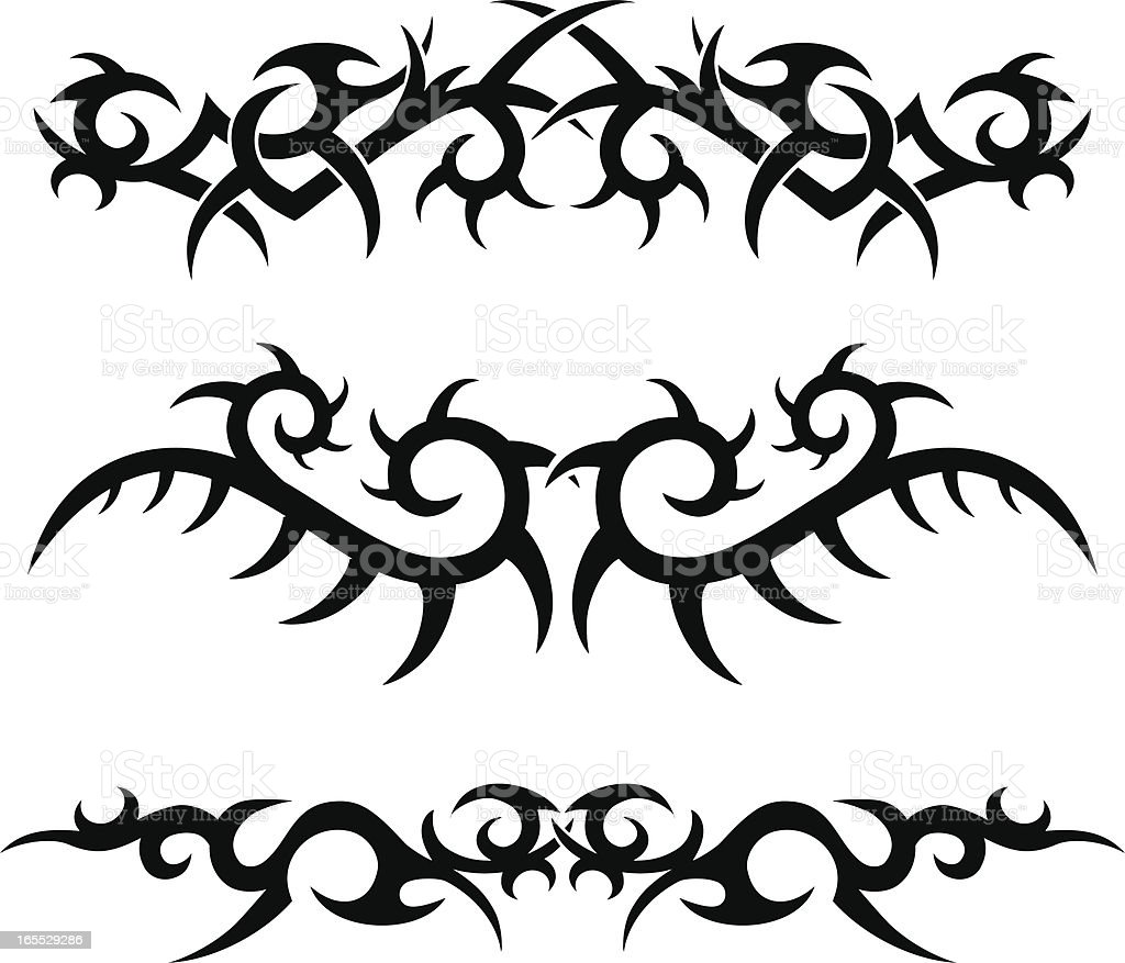 Tribal Tattoo Designs royalty-free stock vector art