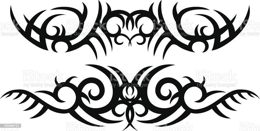 Tribal Tattoo Designs royalty-free stock vector art