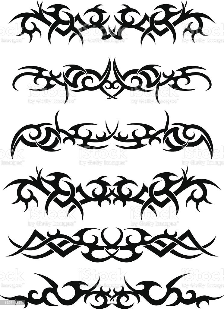 Tribal Tattoo Designs vector art illustration