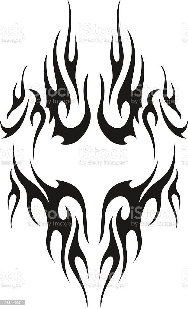 tribal tattoo. Men's tattoo. Women's tattoo. vector art illustration