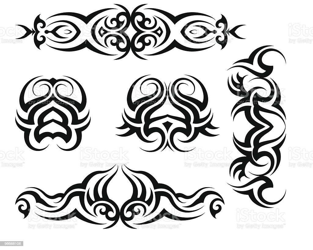 Tribal Tattoo set vector art illustration