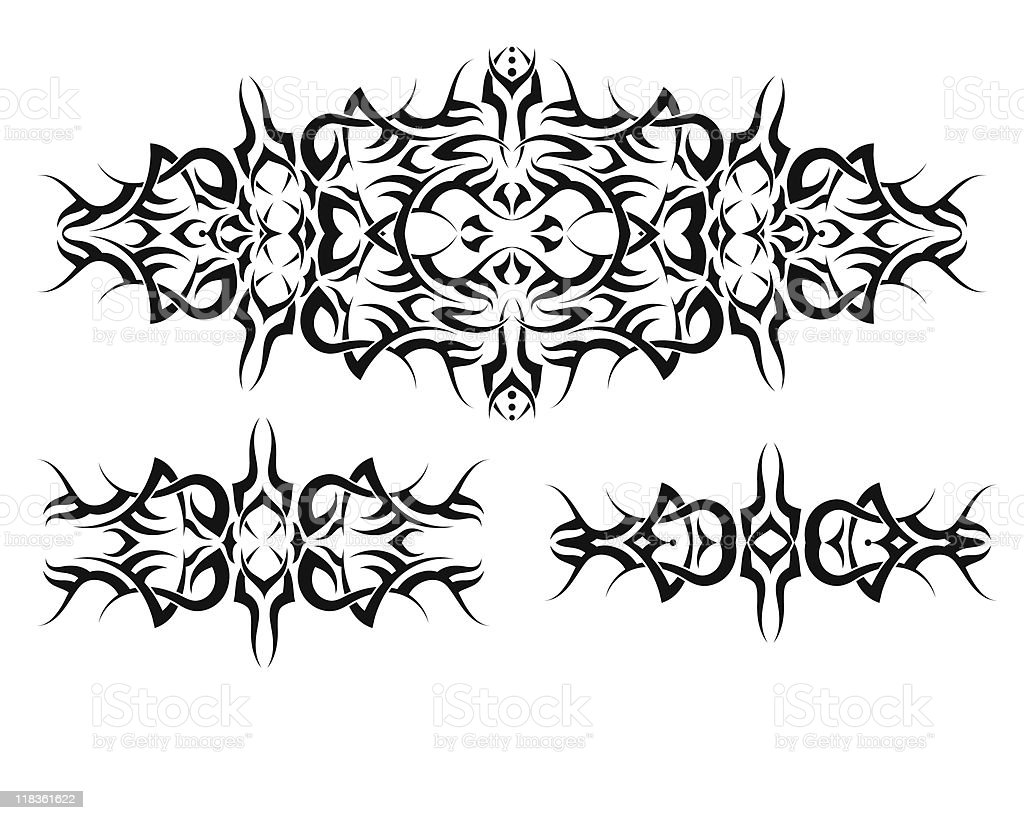 Tribal tattoo vector art illustration