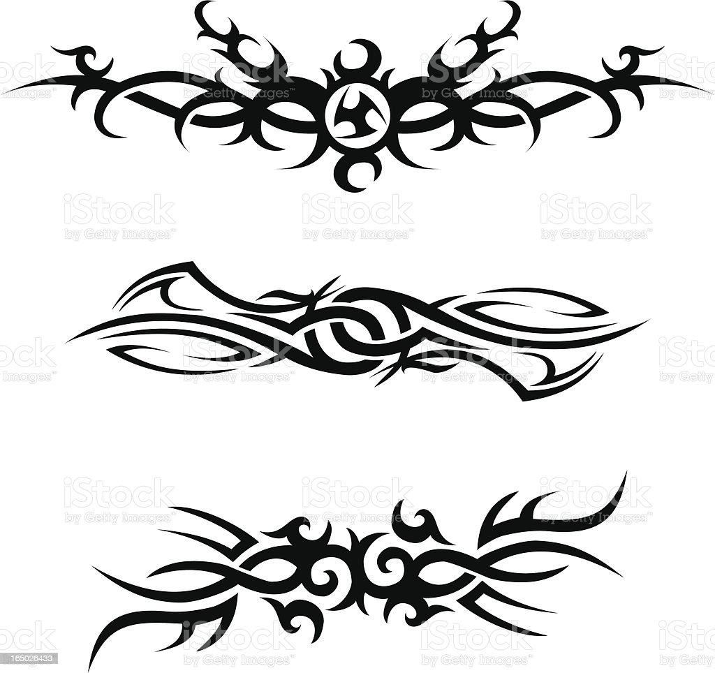 Tribal tattoos 1 royalty-free stock vector art