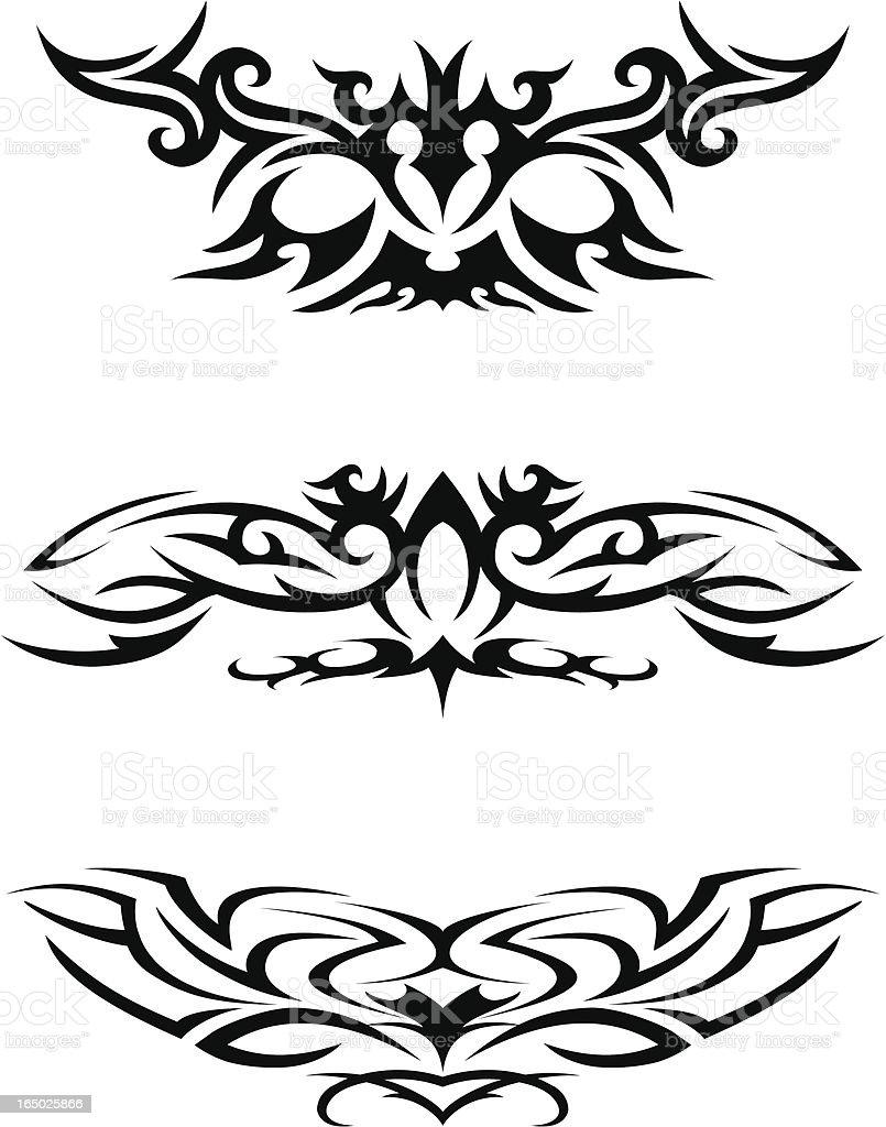 Tribal tattoos 2 royalty-free stock vector art