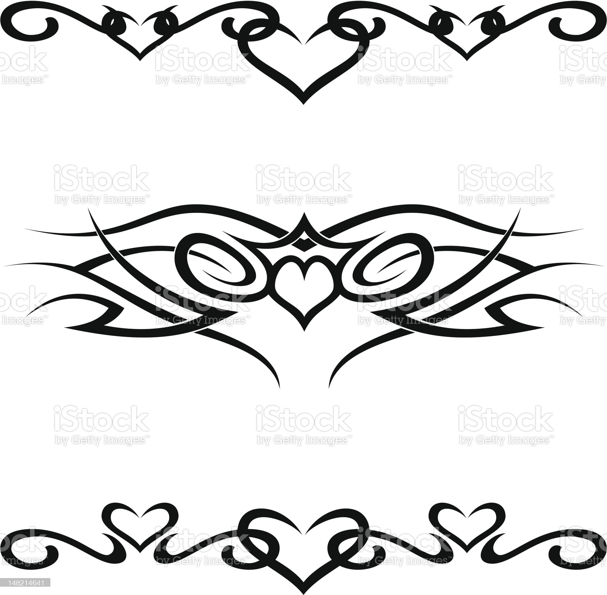 tribal tattoos royalty-free stock vector art