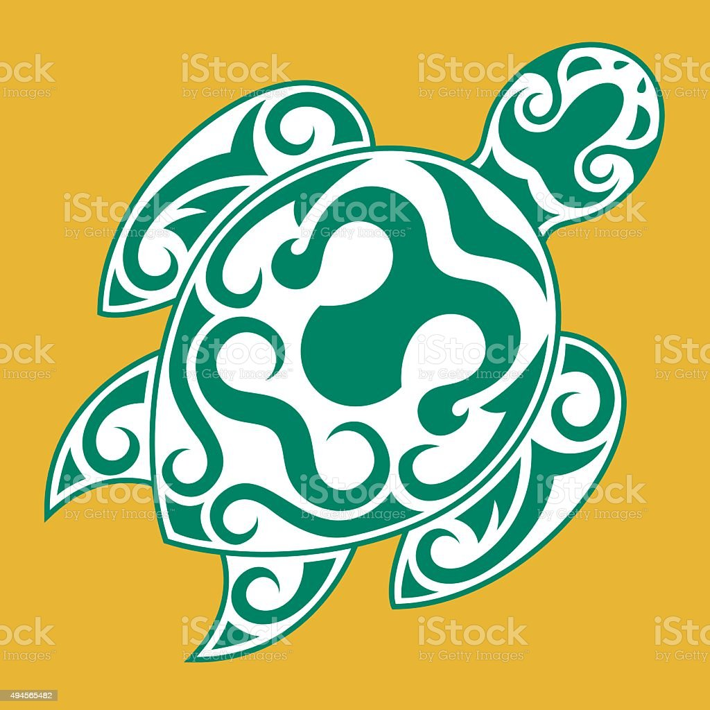 Tribal Turtle design vector art illustration
