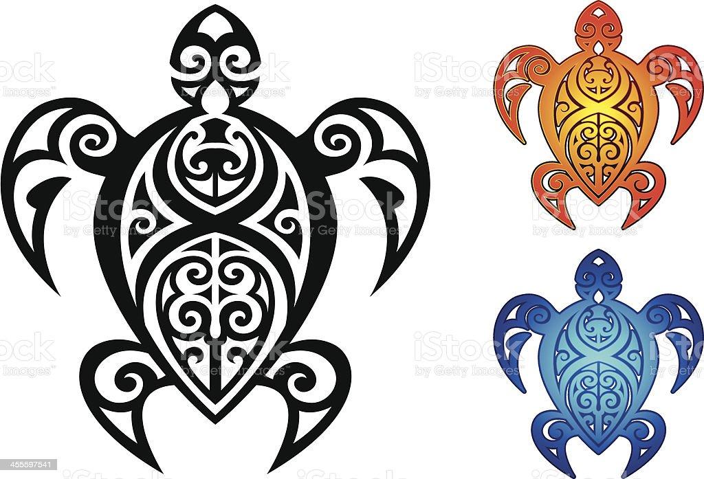 Tribal Turtle royalty-free stock vector art