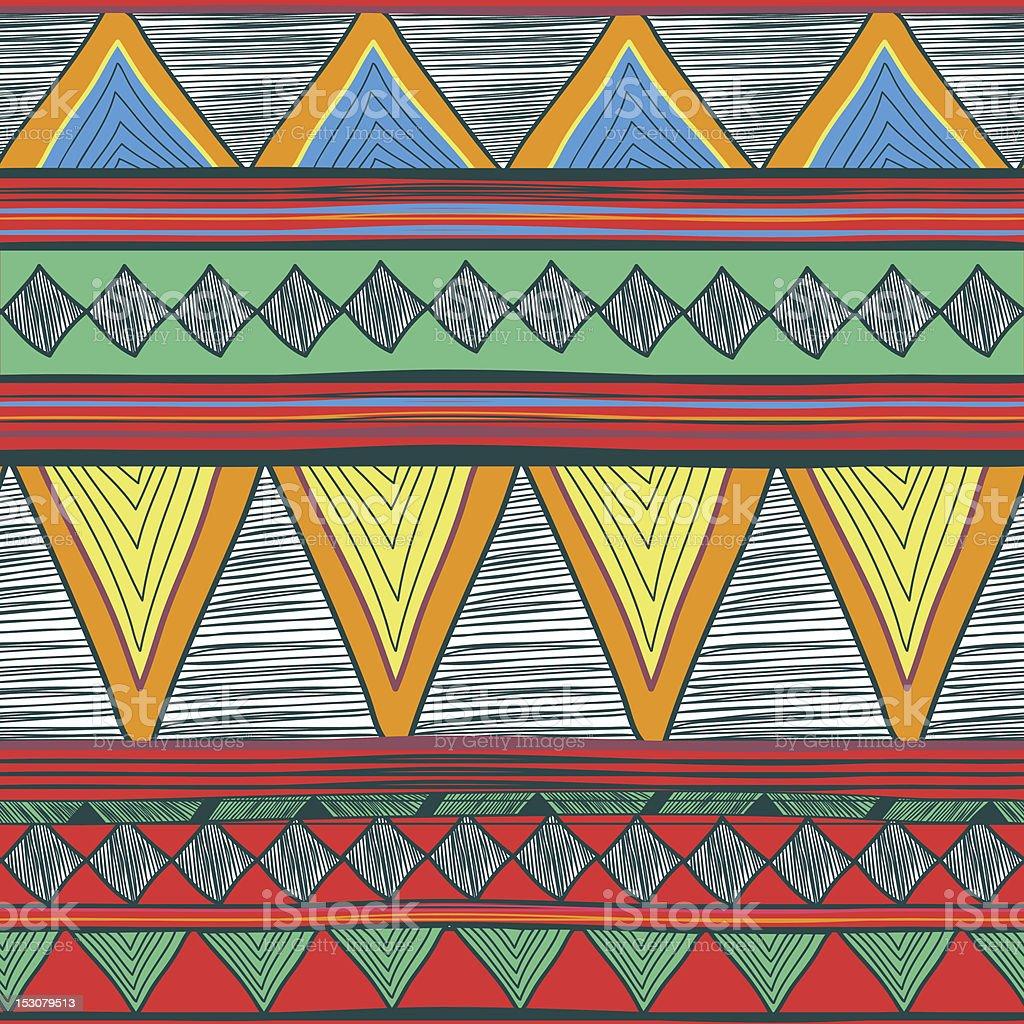 Tribal vector pattern royalty-free stock vector art
