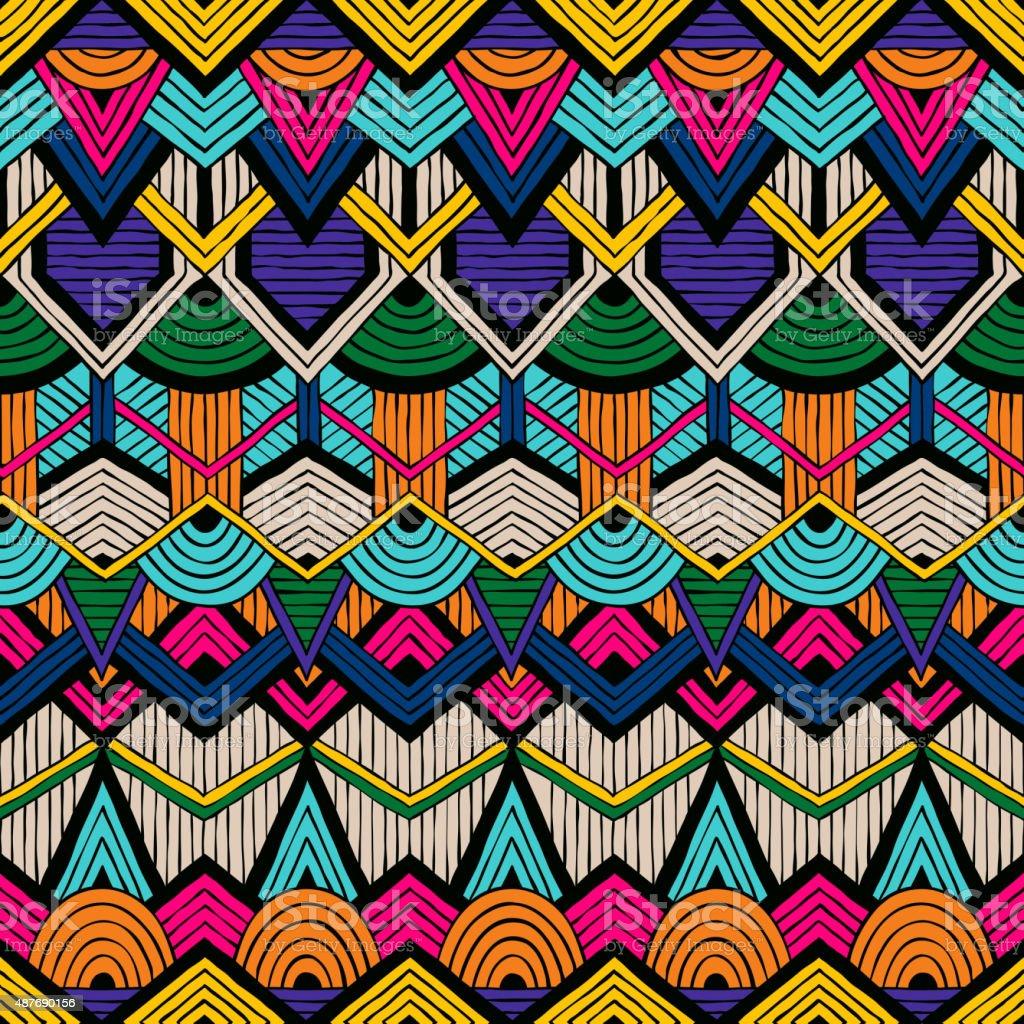 Tribal vector pattern vector art illustration