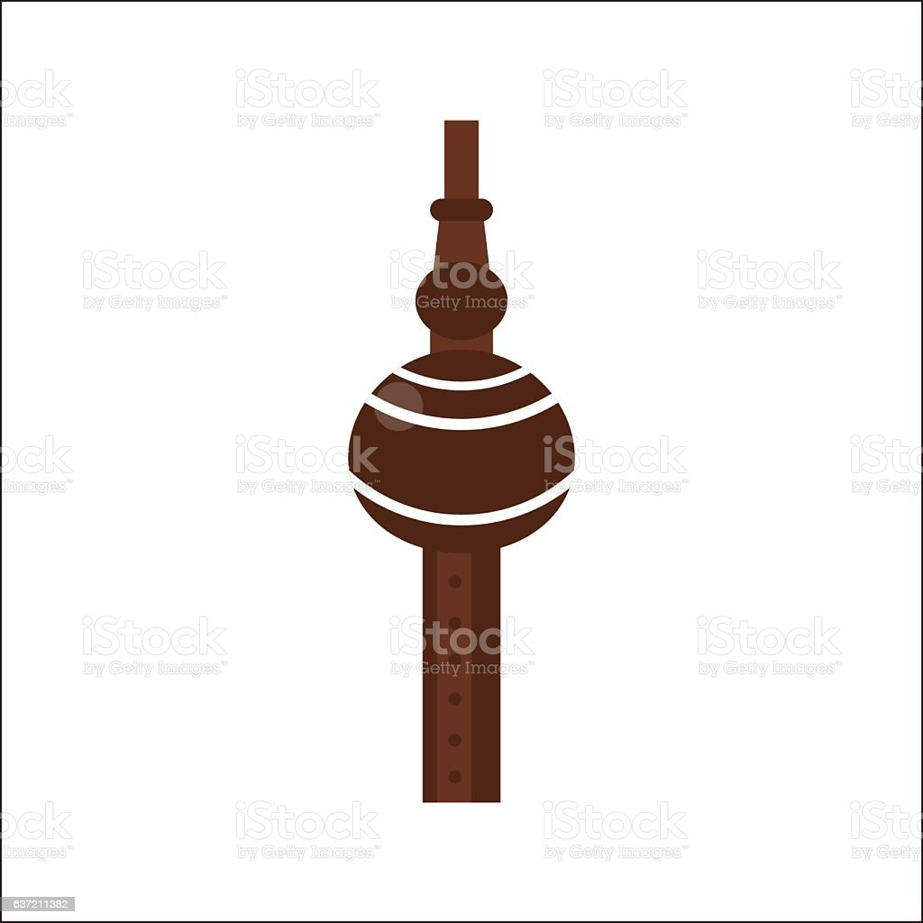 Tribal wooden flute pipe vector. vector art illustration