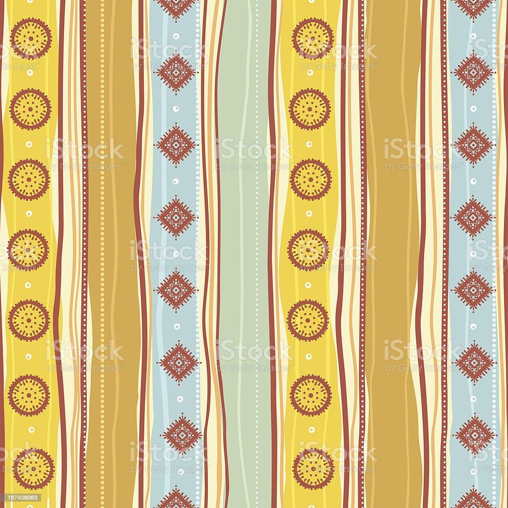 Tribal yellow pattern royalty-free stock vector art