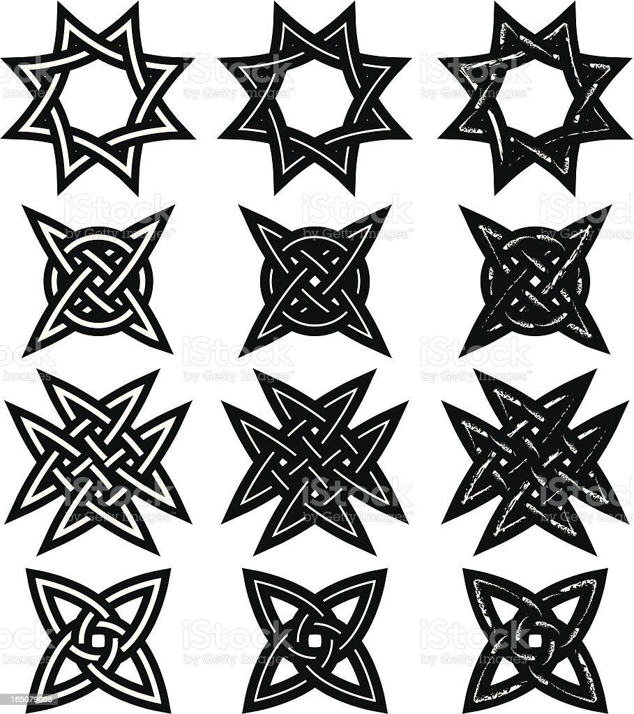 Tribtal Tattoos, Celtic Knots royalty-free stock vector art