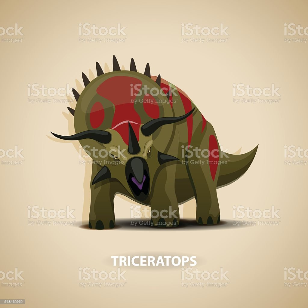 Triceratops - stock vector illustration vector art illustration