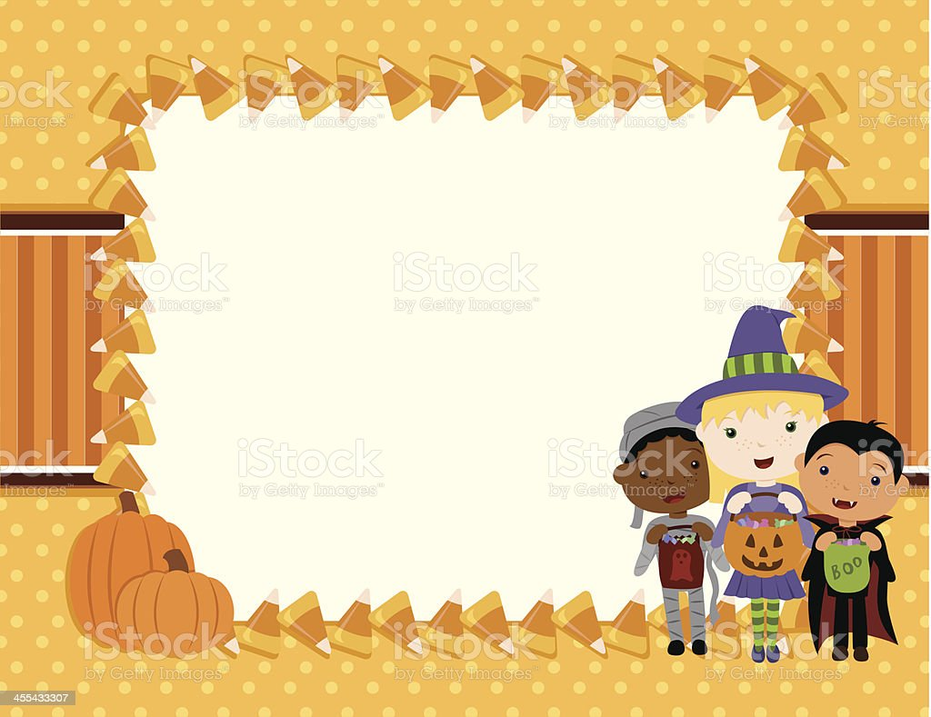 Trick or Treat Background royalty-free stock vector art