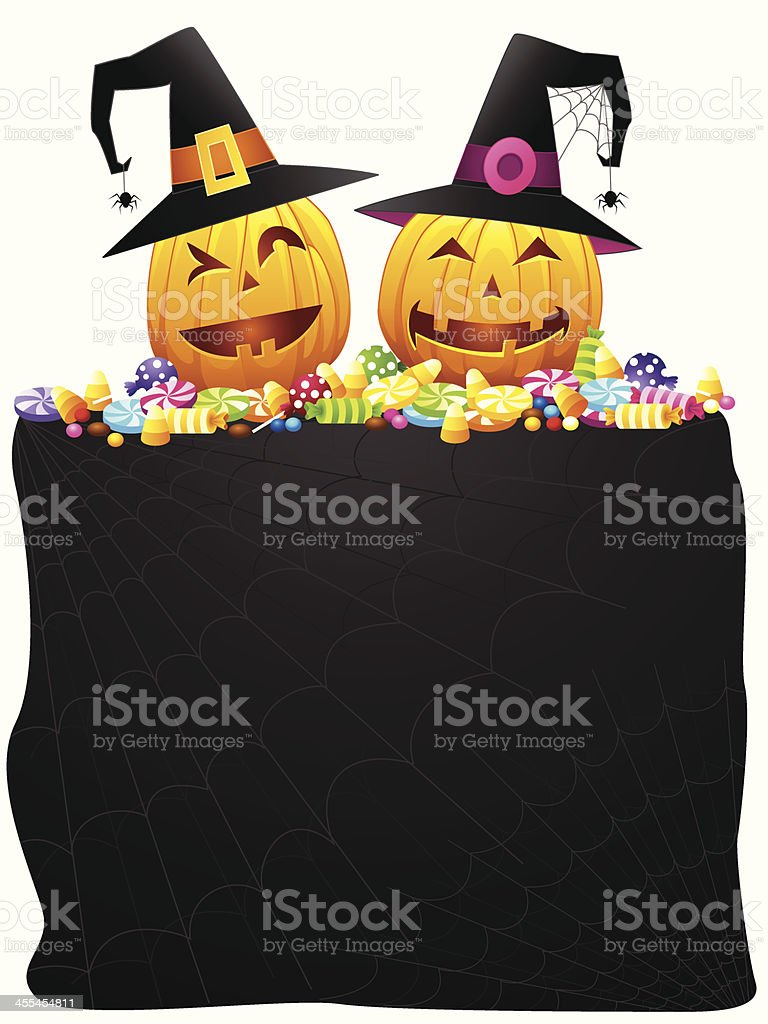 trick or treat banner royalty-free stock vector art