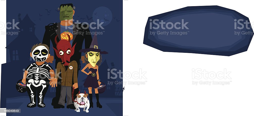 Trick or Treat Kids vector art illustration