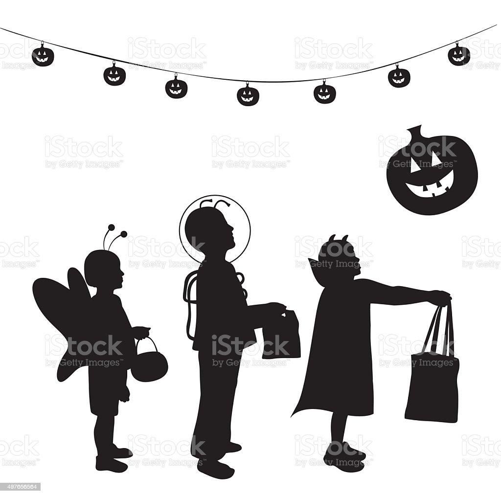 Trick Or Treat! vector art illustration